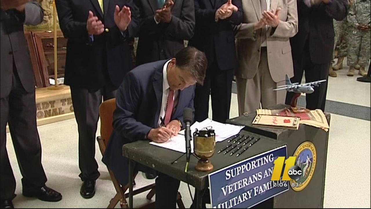 Governor McCrory signs the bill