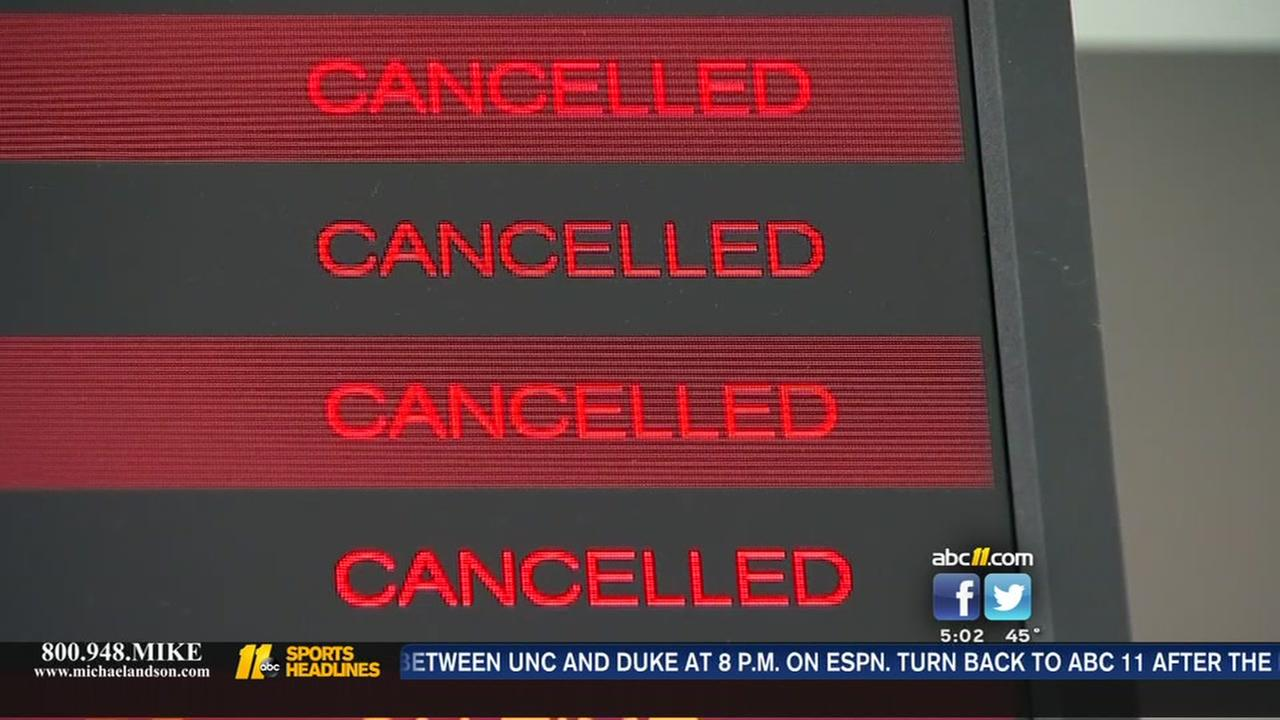 Flights canceled at RDU