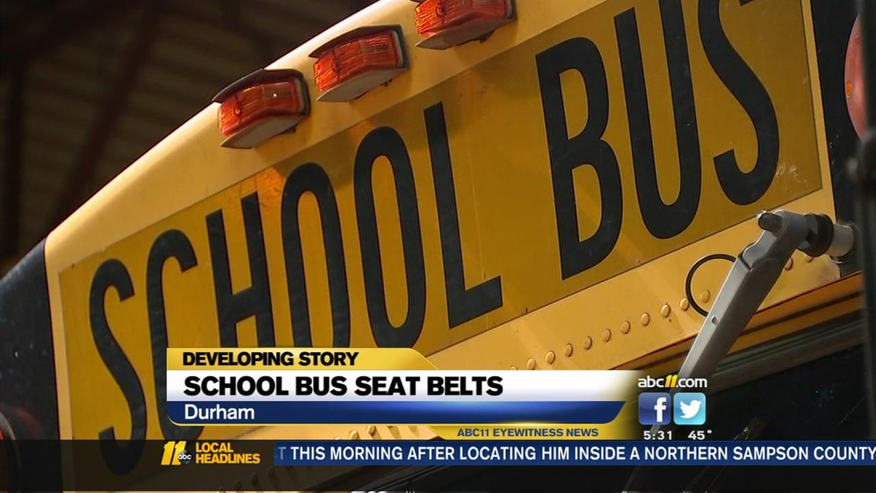 Some Durham school buses to get seat belts
