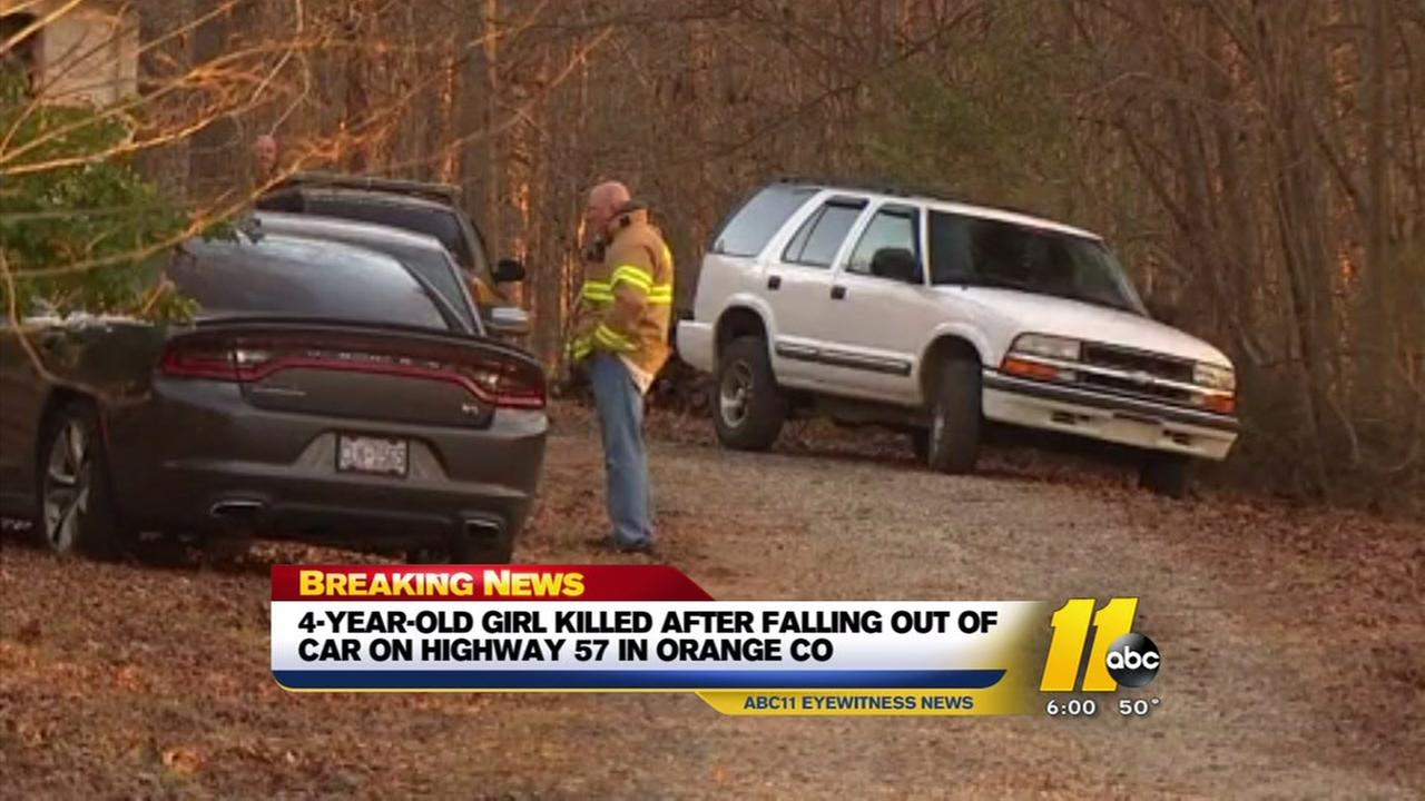 Girl dies after falling out of family vehicle