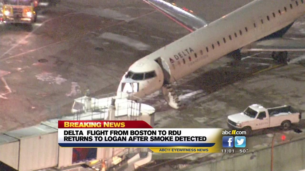Delta flight to RDU forced to return to Boston airport