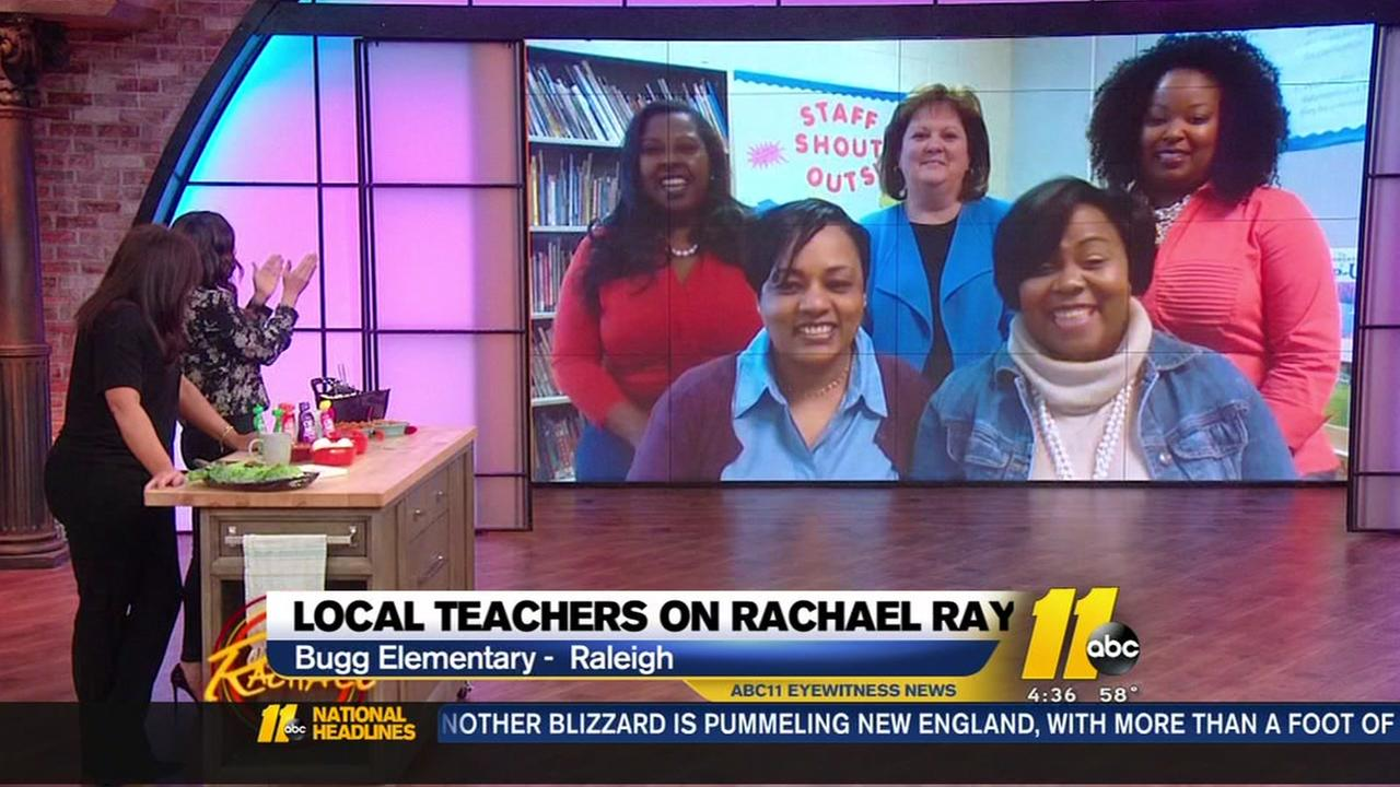 Raleigh teachers appear on Rachael Ray Show