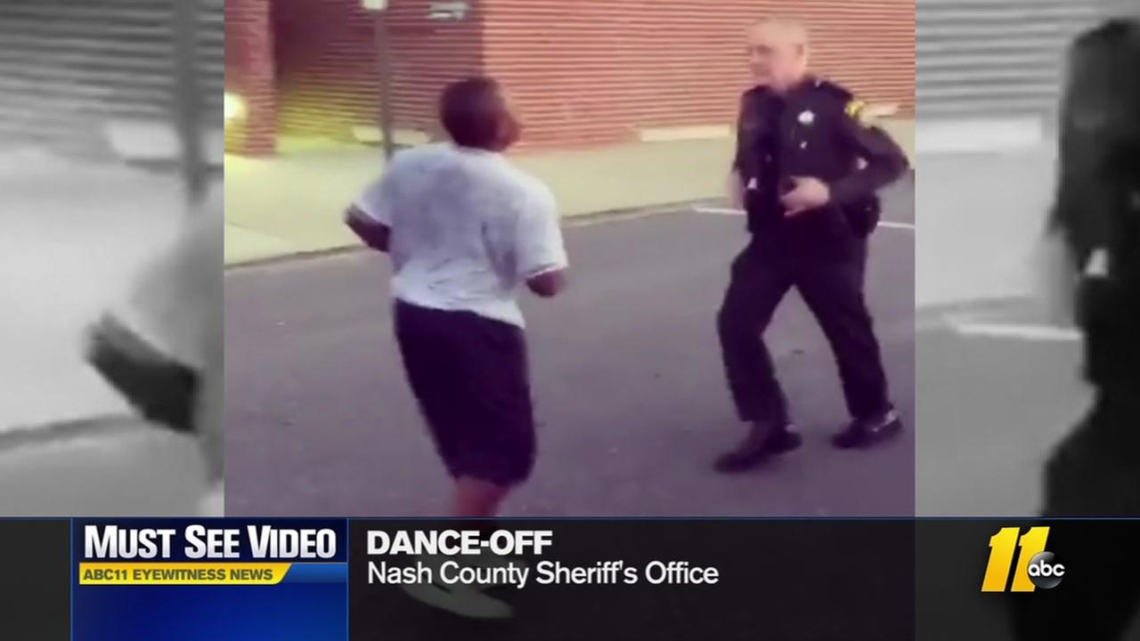 Boy and Sheriffs deputy have dance-off in Nash County
