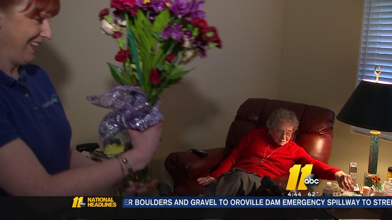 Visiting Angels surprises seniors on Valentines Day