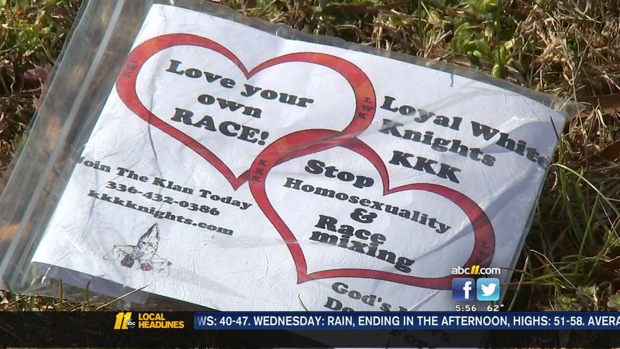 KKK fliers again showing up in Roxboro