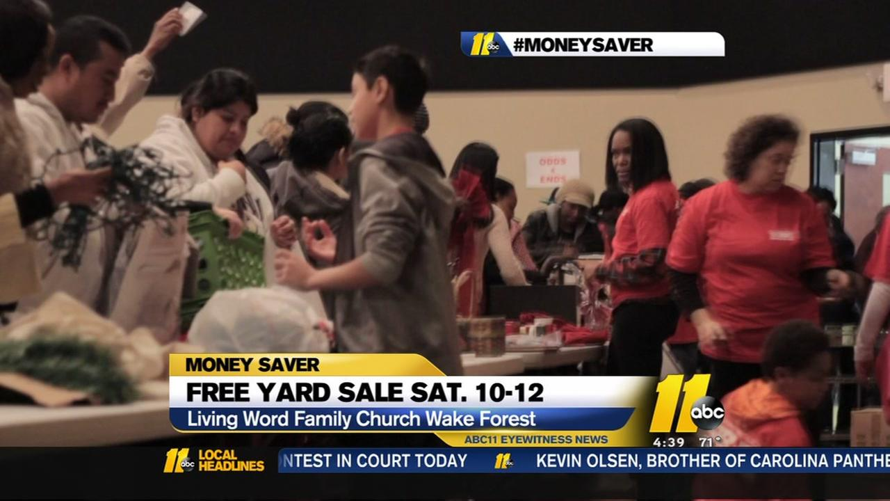 Free yard sale this weekend.