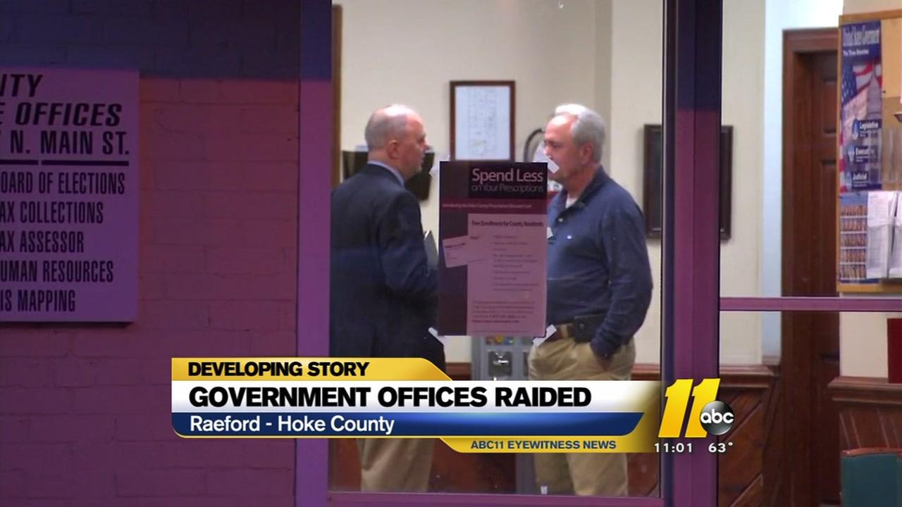Hoke County government offices raided