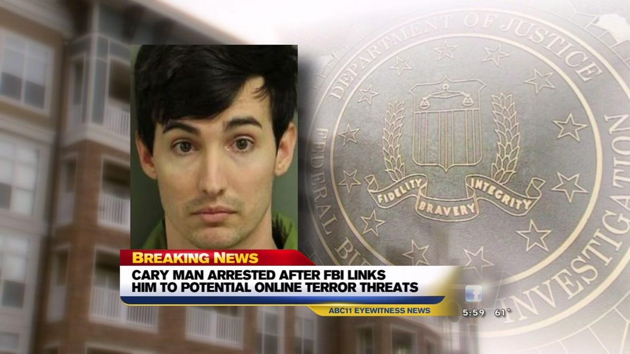 Cary man arrested in potential terror threats
