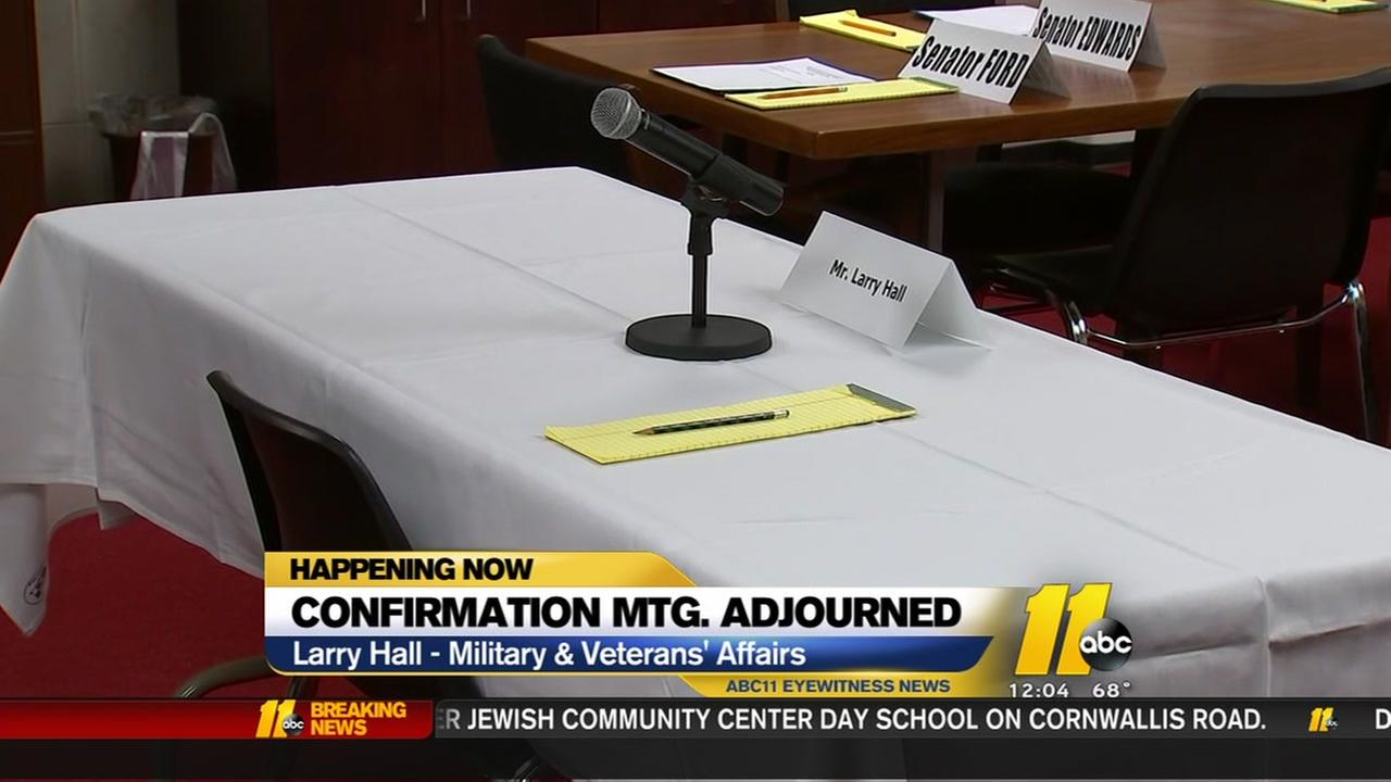 Larry Hall once again a no-show at confirmation hearing