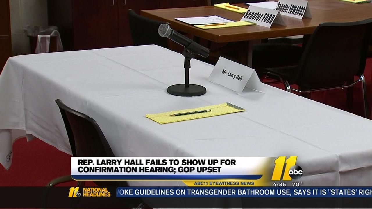 Larry Hall once again a no-show at hearing
