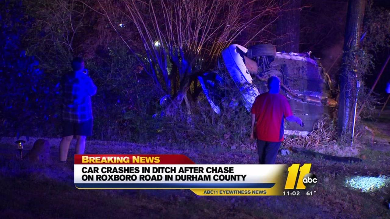 Durham County chase ends in crash