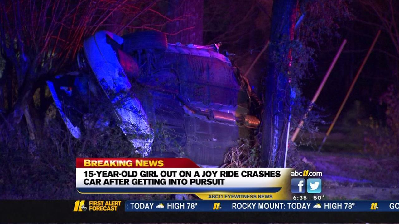 Girl, 15, crashes after high-speed chase in Durham