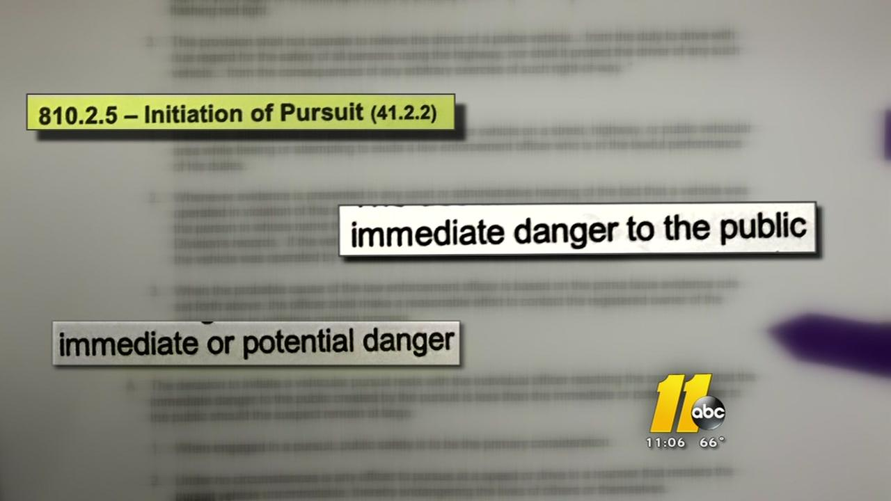 A closer look at Garner Police pursuit policy