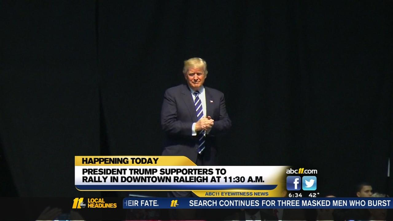 President Trump supporters to rally in Raleigh