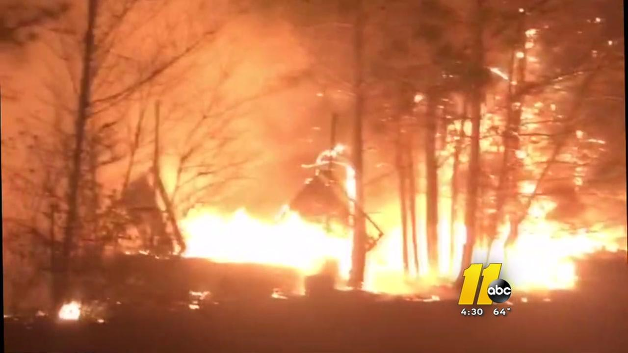 Multiple suspicious fires blaze through Robeson County