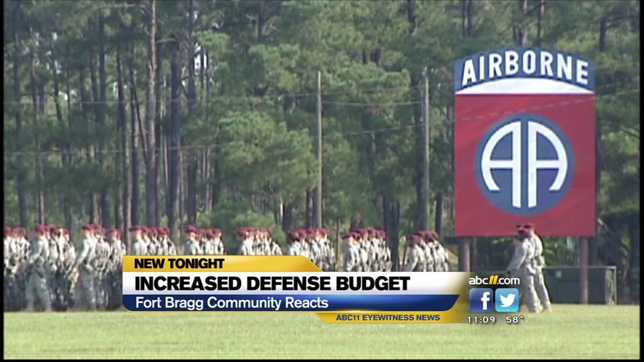 Fort Bragg community reacts to increased defense budget