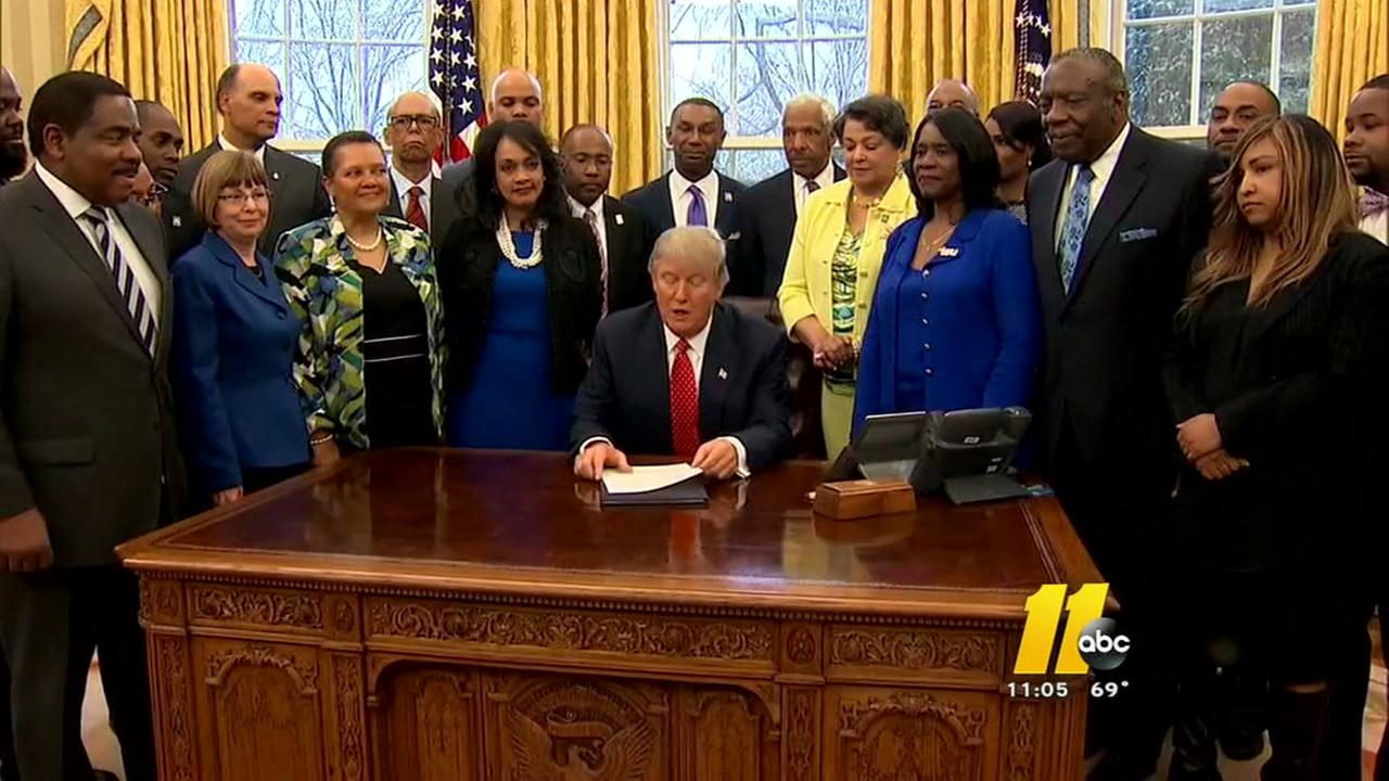 President Trump meets with leaders of HBCUs