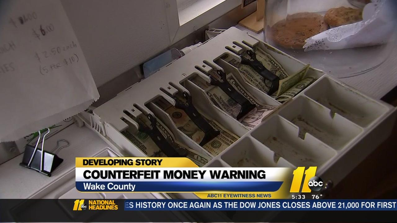 Counterfeit money surfacing in Wake County