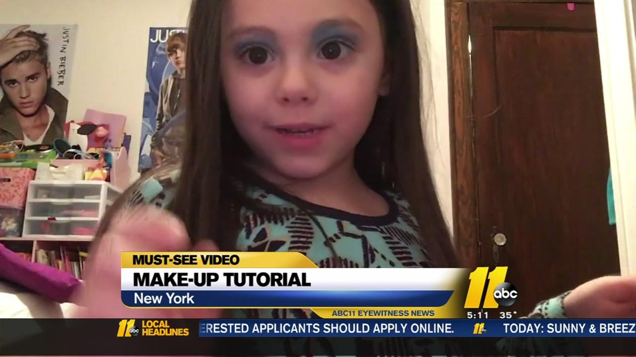 4-year-old gives make-up tutorial