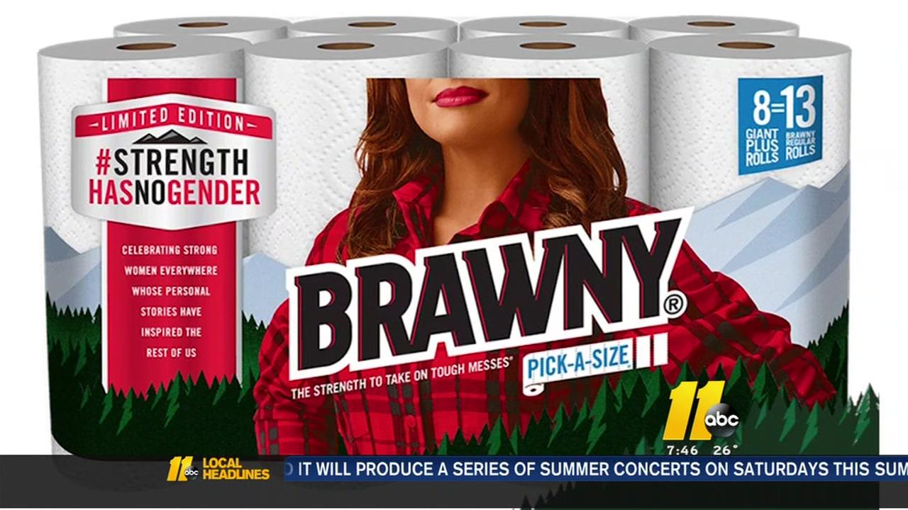 Brawny replaces Brawny Man with Brawny Woman