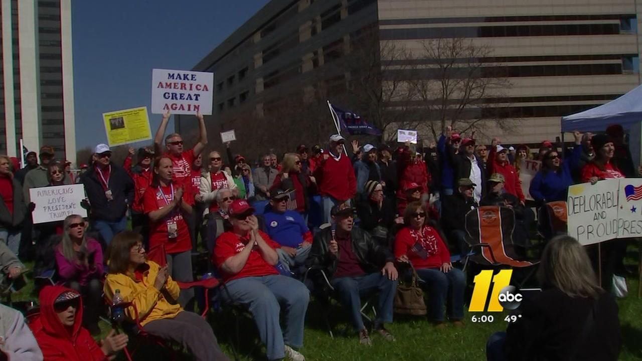 NC Trump supporters gather for rally