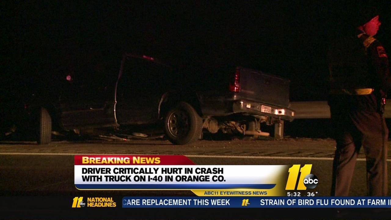 Driver critically hurt in I-40 crash