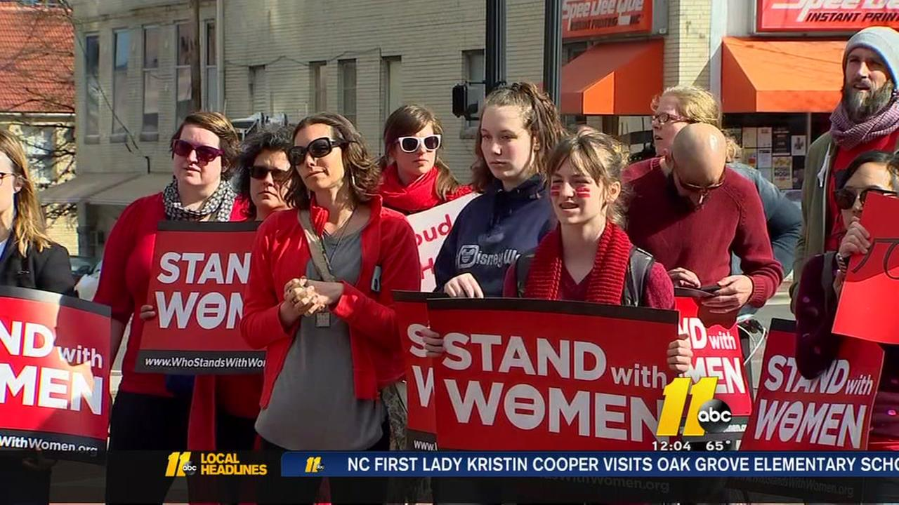 Day Without a Woman: Triangle takes part in protest