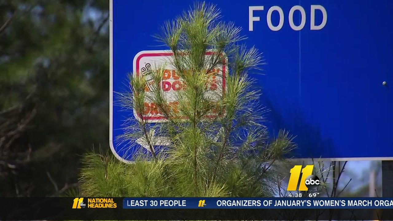 Wake County overgrowth concerns on roads