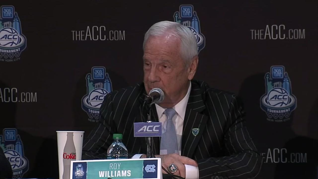 Roy Williams takes a swipe at President Trump in New York