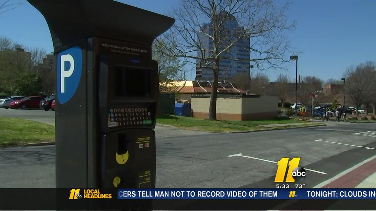Parking meters installed outside Durham senior center