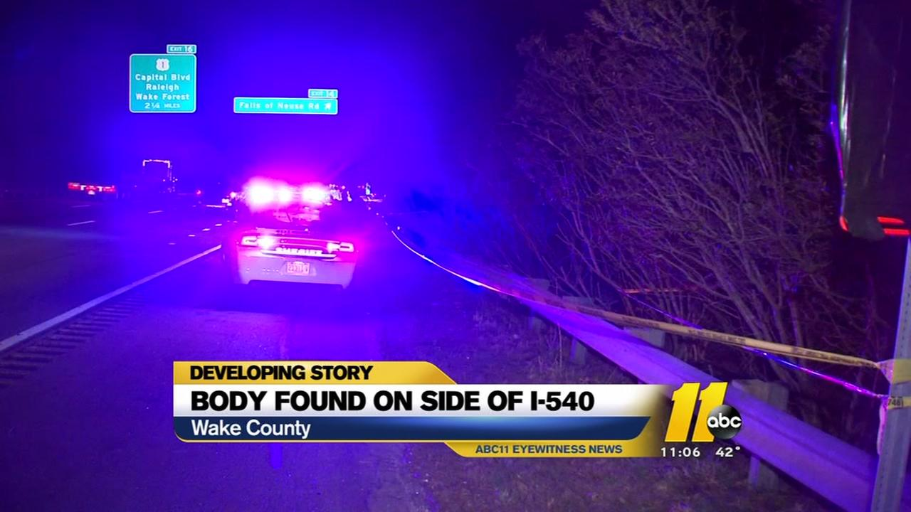 Body found on side of I-540