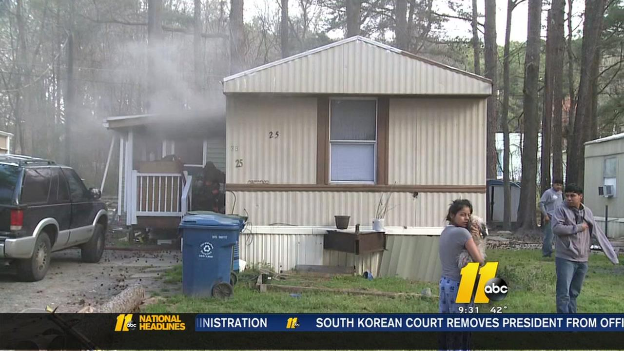 4 displaced in Durham house fire