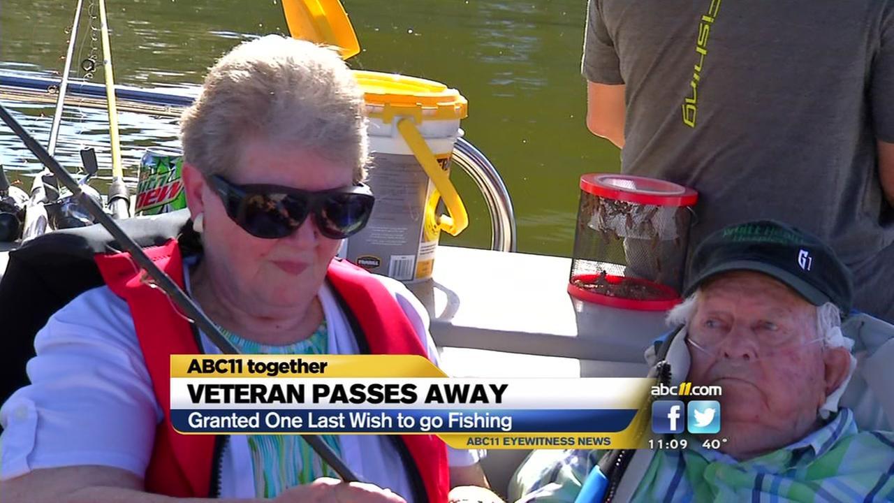 Veteran who got one last fishing trip passes away