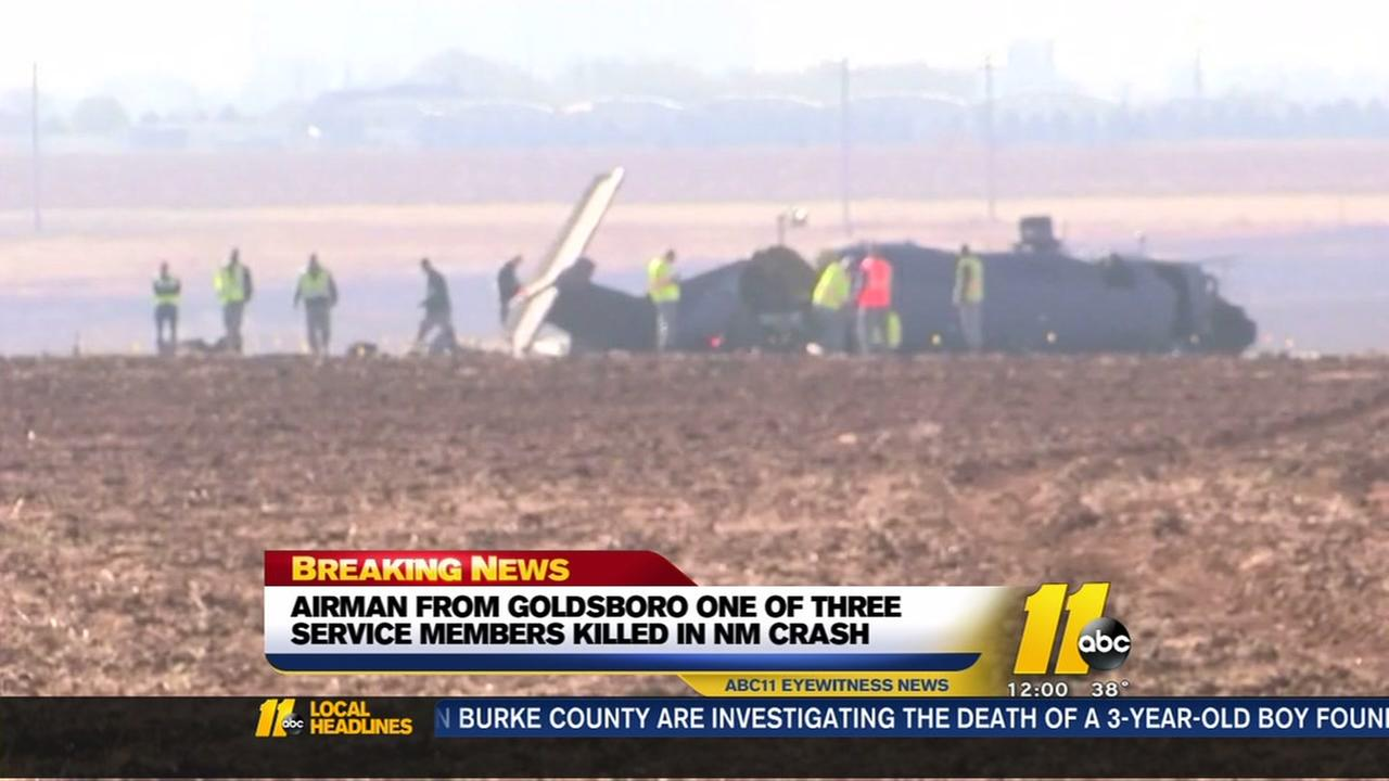 Airman from Goldsboro killed in crash