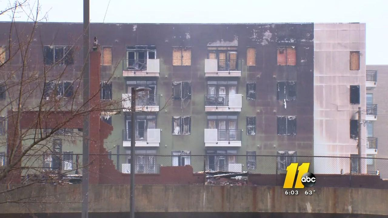 Displaced residents assess damage after Raleigh fire