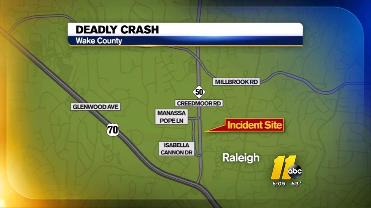 Man killed in Wake County crash