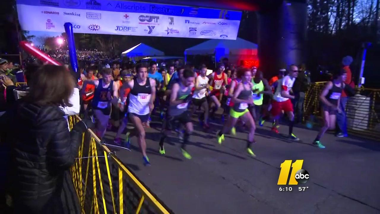 Thousands run in the Tobacco Road Marathon