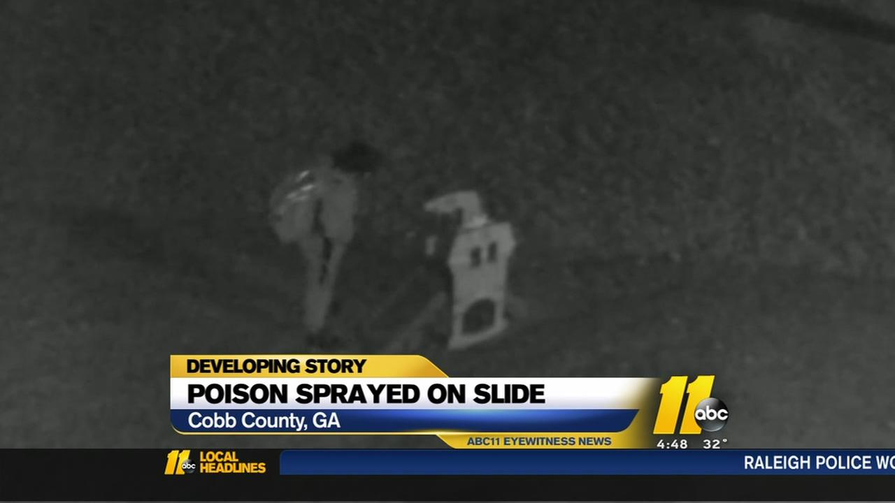 Family claims someone sprayed poison on boys slide
