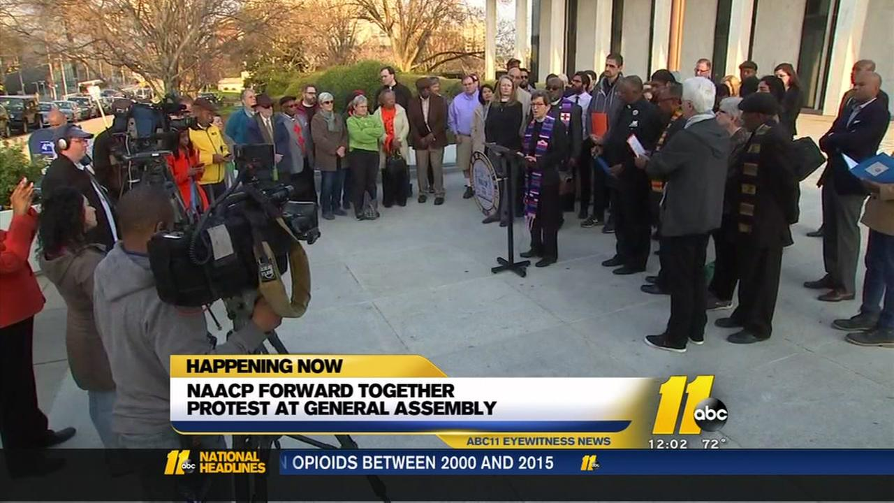 NC NAACP Forward Together protest at General Assembly