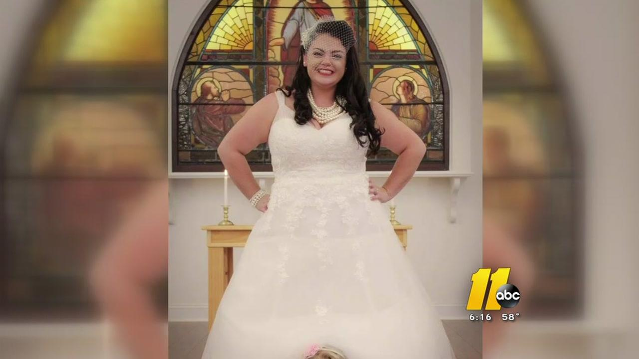 Womans wedding dress accidentally donated
