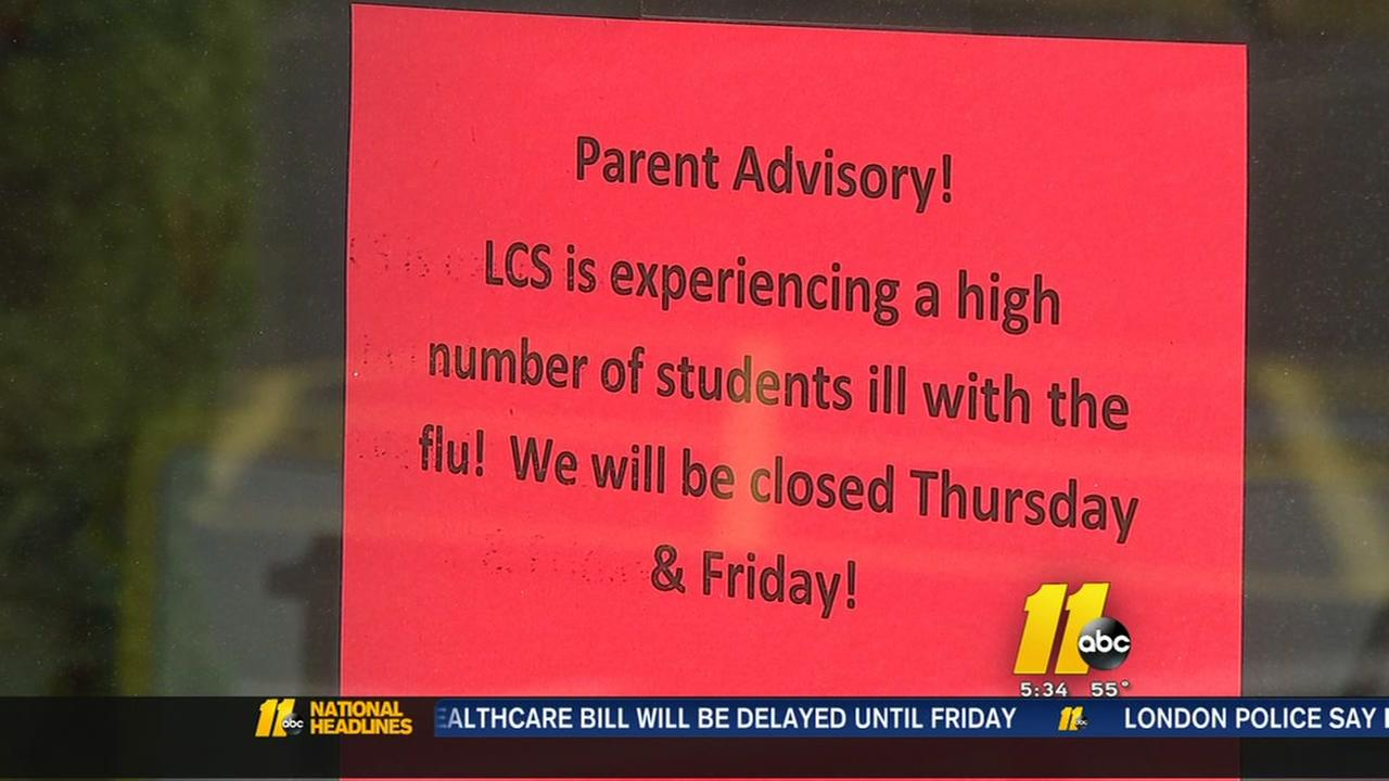 Flu forces Sanford school to close