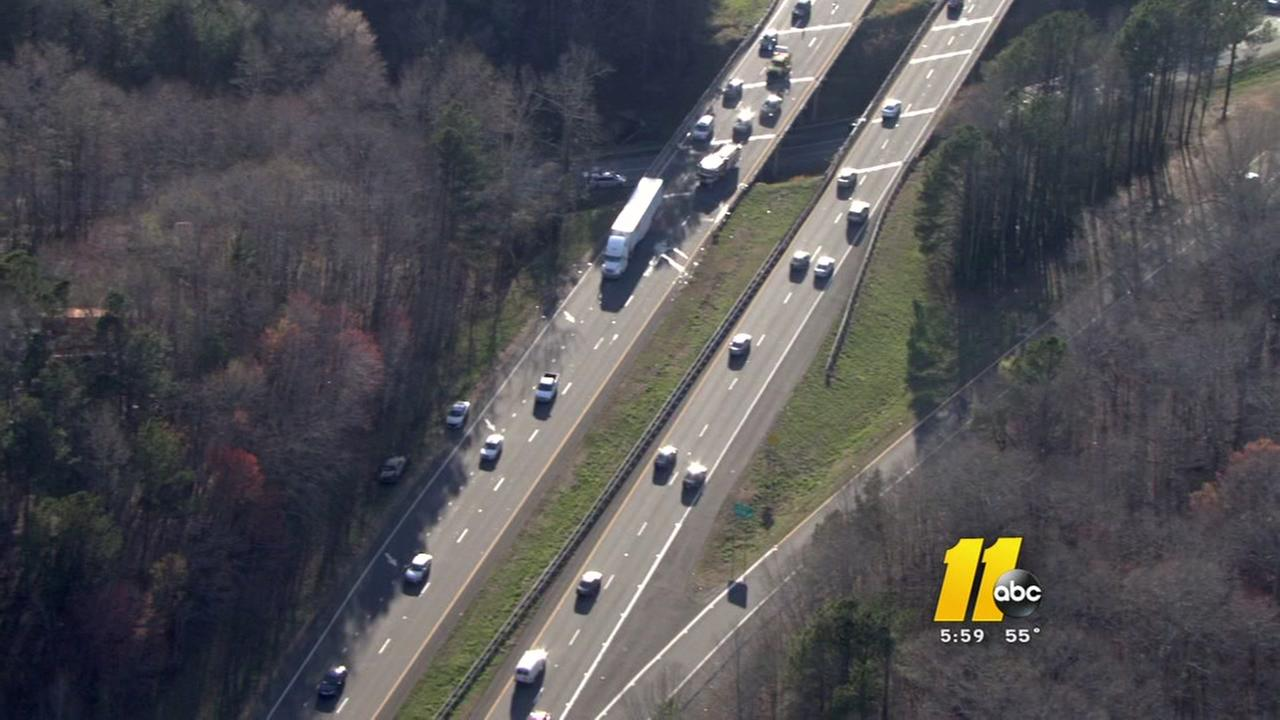 I-85 crash causing major delays