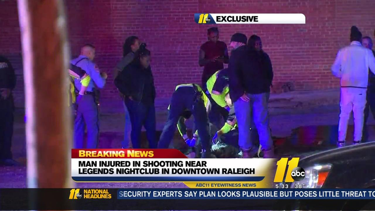 Man injured in downtown Raleigh shooting