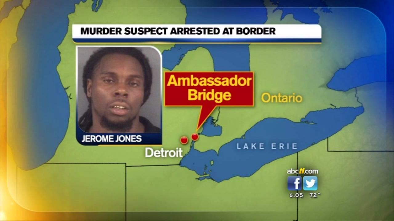 Murder suspect arrested at Canadian border