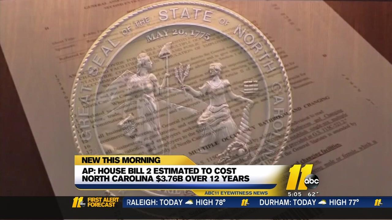 AP: HB2 estimated to cost NC $3.76B