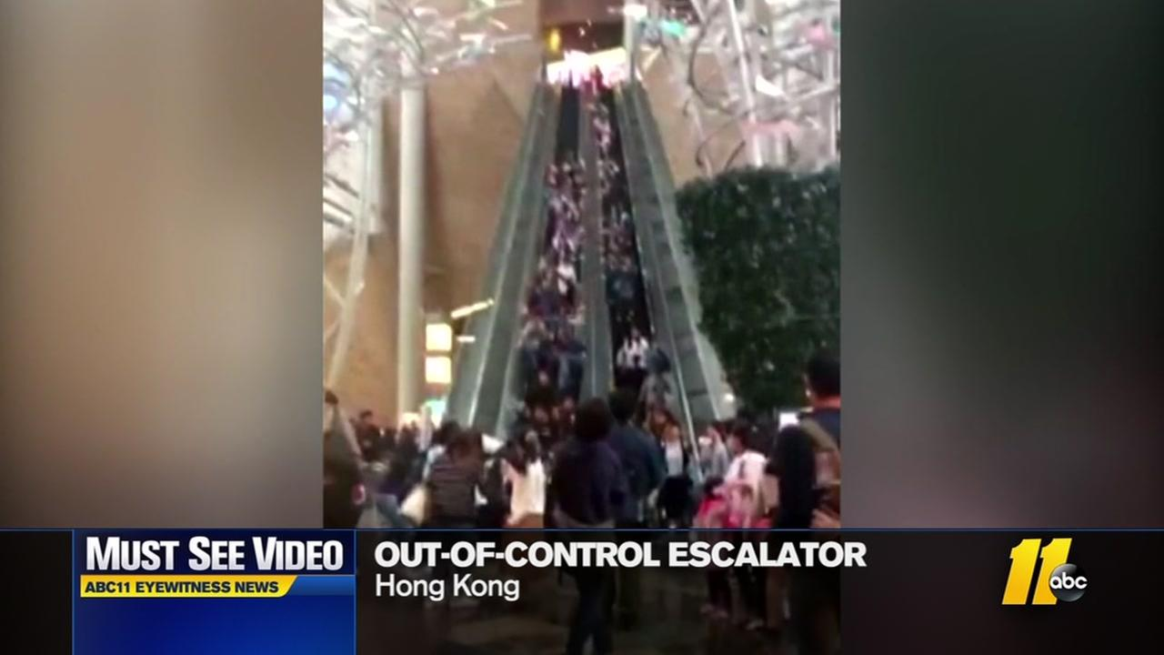 Escalator gone wild