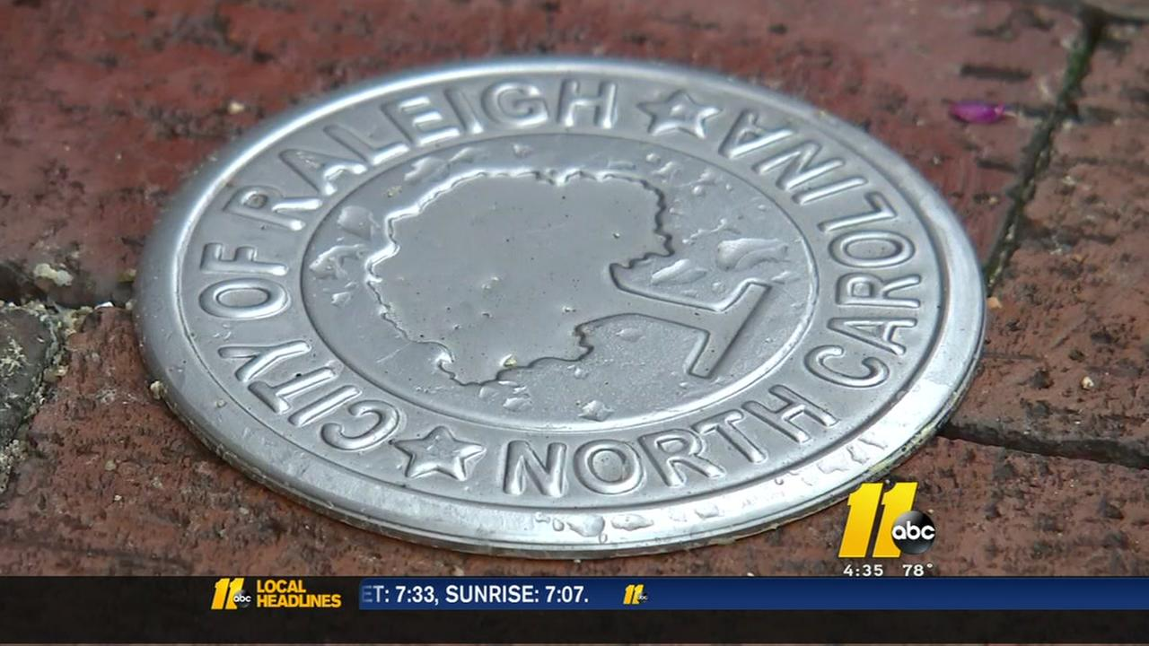 Medallions popping up in downtown Raleigh