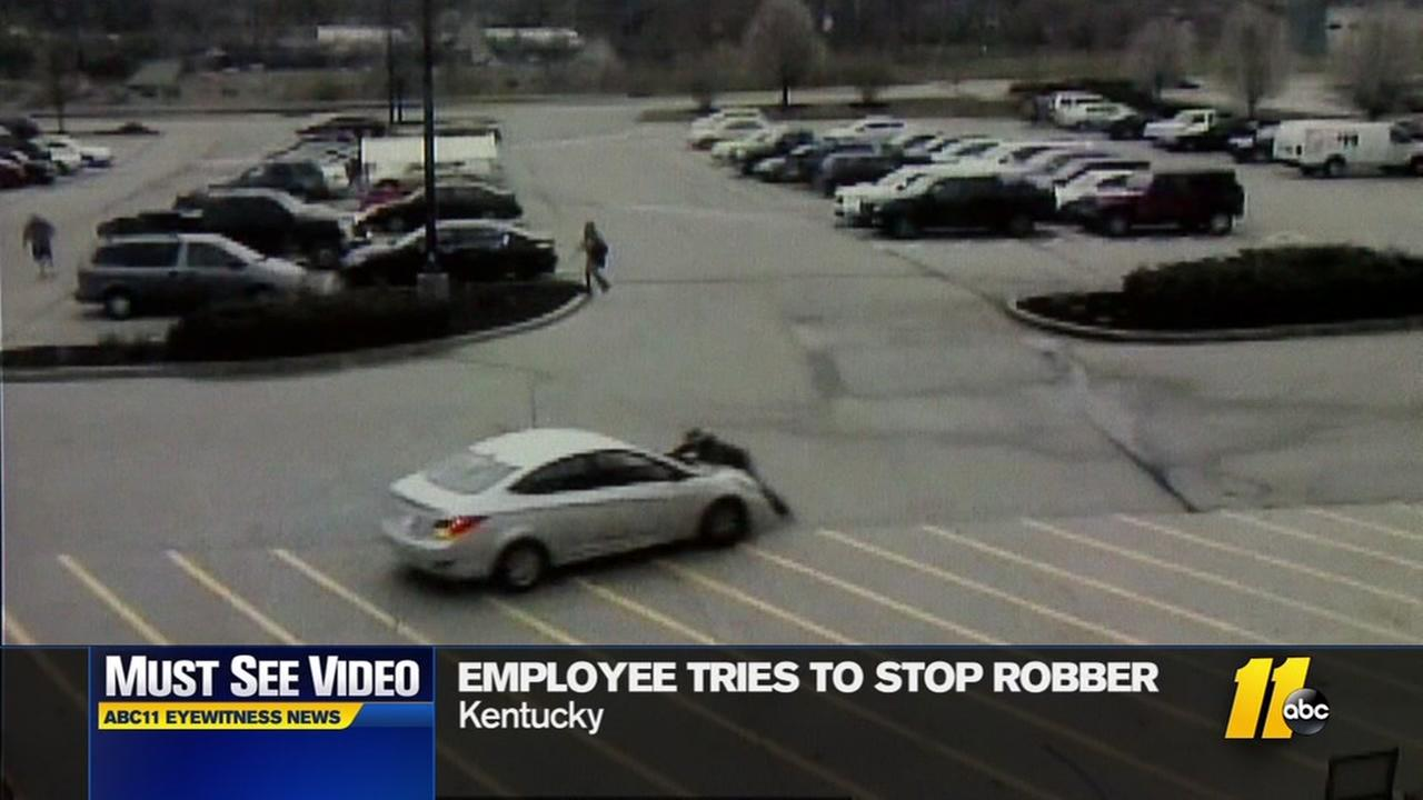Must See Video: Home Depot employee chases after robber