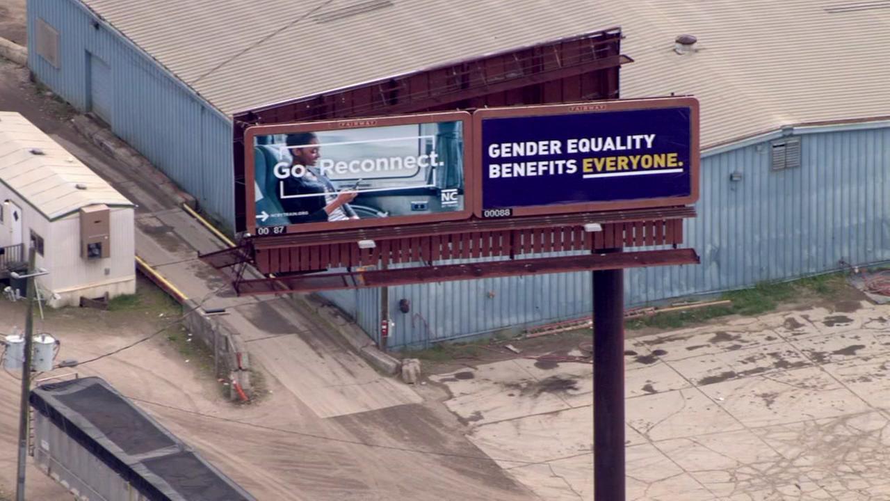 Gender equality billboard