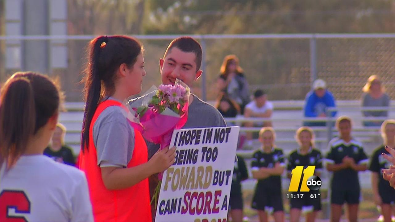 Wake County student with Autism surprises buddy with promposal